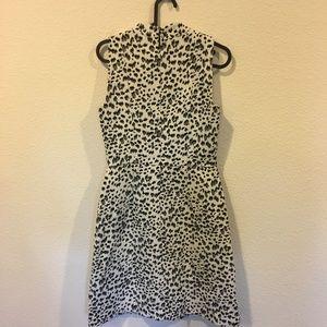 LOFT Dresses - NWT LOFT black and white animal print dress